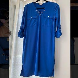 Michael Kors Blue Mini Shirt Dress size M